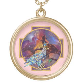Eagle - № celestial 14 do andarilho colar com pendente redondo