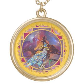 Eagle - № celestial 15 do andarilho colar banhado a ouro