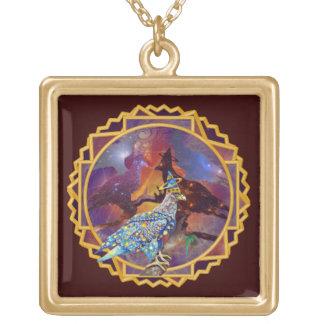 Eagle - № celestial 17 do andarilho colar com pendente quadrado