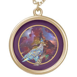 Eagle - № celestial 21 do andarilho colar com pendente redondo
