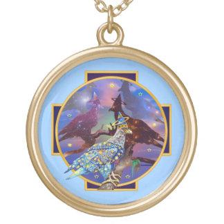 Eagle - № celestial 22 do andarilho colar com pendente redondo