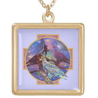 Eagle - № celestial 23 do andarilho colar com pendente quadrado