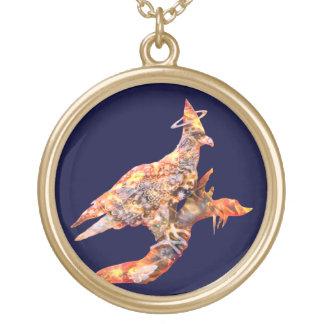Eagle - № celestial 27 do andarilho colar com pendente redondo