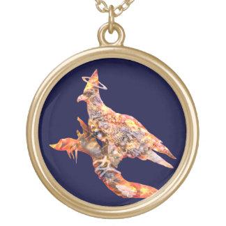 Eagle - № celestial 28 do andarilho colar banhado a ouro