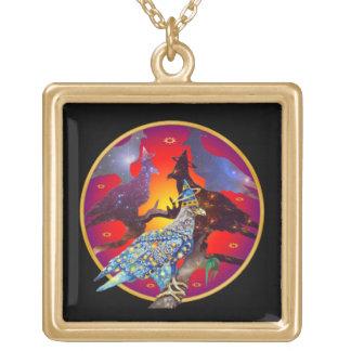 Eagle - № celestial 32 do andarilho colar com pendente quadrado