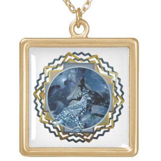 Eagle - № celestial 5 do andarilho colar com pendente quadrado