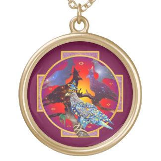 Eagle - № celestial 6 do andarilho colar com pendente redondo