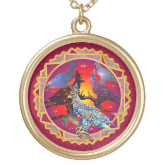 Eagle - № celestial 71 do andarilho colar com pendente redondo