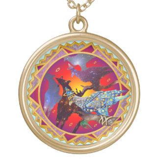 Eagle - № celestial 7 do andarilho colar com pendente redondo