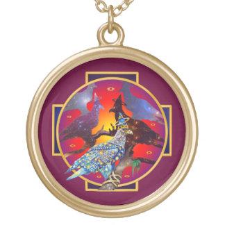 Eagle - № celestial 8 do andarilho colar com pendente redondo