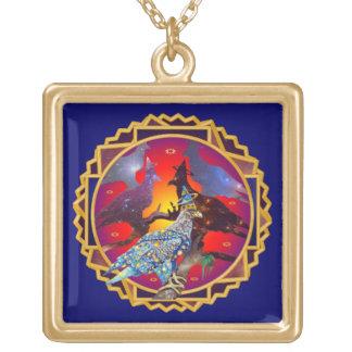Eagle - № celestial 9 do andarilho colar com pendente quadrado