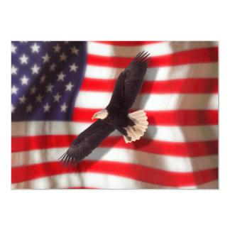 Eagle e convite da bandeira americana