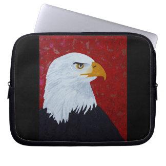 Eagle/fogo no céu sleeve para notebook