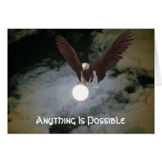 Eagle qualquer coisa é cartão inspirado possível
