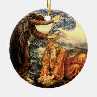 Earthbound por Evelyn De Morgan Ornamento De Cerâmica Redondo