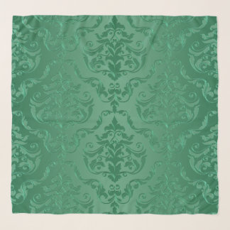 Echarpe Damasco do estilo do vintage do verde de jade