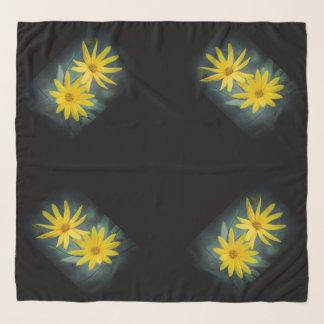 Echarpe Duas flores amarelas do tupinambo