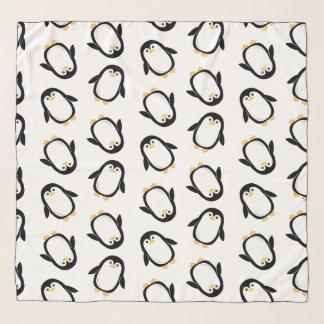 Echarpe Teste padrão bonito dos pinguins