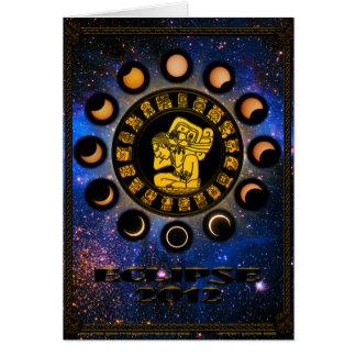Eclipse 2012 pelo sótão Moore Cartão Comemorativo