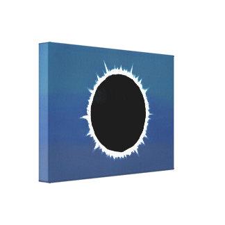 Eclipse solar total - impressão das canvas