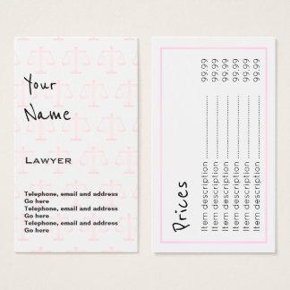 """""""Ecoa"""" cartões de preço do advogado"""
