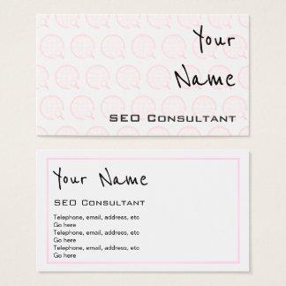 """""""Ecoa"""" cartões de visitas do consultante de SEO"""