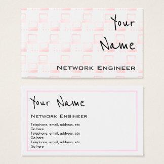 """""""Ecoa"""" cartões de visitas do engenheiro da rede"""