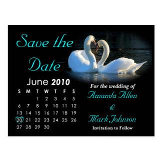 Economias 2010 a data, anúncio Wedding Cartão Postal