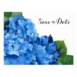 Economias azuis do casamento do Hydrangea os Cartão Postal