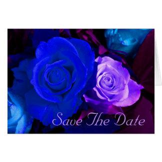 Economias azuis do rosa do roxo a data