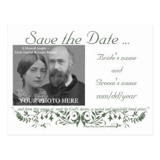 Economias católicas do grupo do casamento o modelo cartão postal