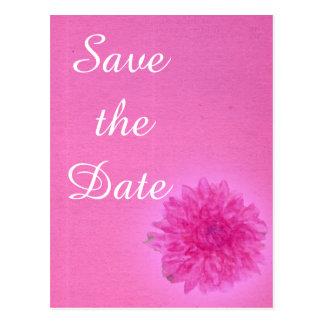 Economias cor-de-rosa do casamento da dália o cartão postal