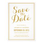 Economias da caligrafia o anúncio da data convites personalizados