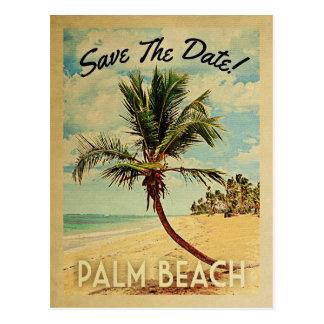 Economias de Florida do Palm Beach o vintage da Cartão Postal