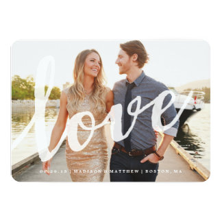 Economias do amor | o cartão com fotos da data convite 12.7 x 17.78cm