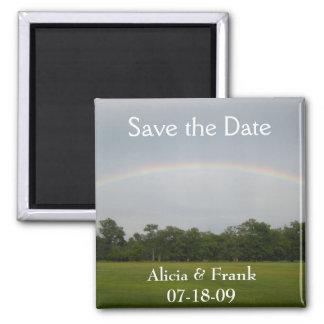 economias do arco-íris a data ímã quadrado