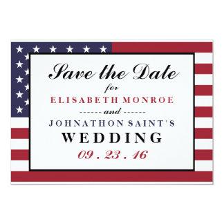 Economias do casamento da bandeira americana a convite 12.7 x 17.78cm