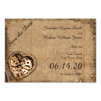 Economias do casamento da noiva de Steampunk do Convite 8.89 X 12.7cm