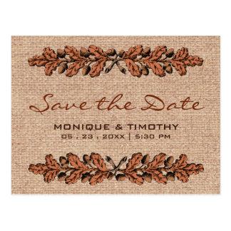Economias do casamento de serapilheira do vintage cartão postal