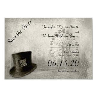 Economias do casamento do chapéu alto do carnaval convites personalizado