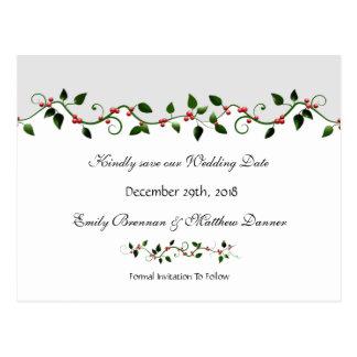 Economias do casamento do feriado de dezembro o cartão postal