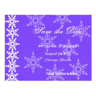 Economias do casamento do Natal dos flocos de neve Cartões Postais