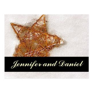 Economias do casamento do Natal o cartão da Cartão Postal