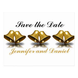 Economias do casamento do Natal o ouro Bels da Cartão Postal
