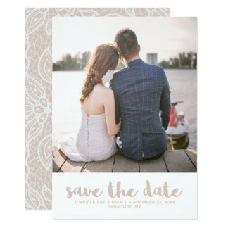 Economias do casamento do olhar do laço a foto da convite 12.7 x 17.78cm