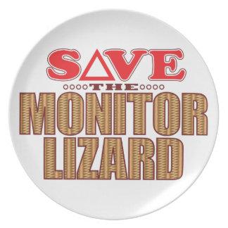 Economias do lagarto de monitor pratos