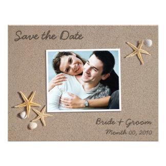 Economias do tema da praia os cartões com fotos da convites personalizado