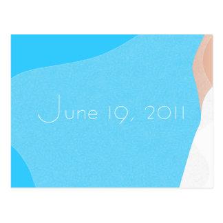 Economias do véu do casamento o cartão da data cartão postal