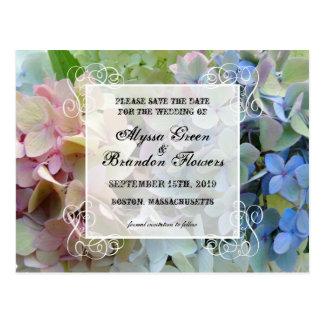 Economias florais modernas os cartão do casamento cartão postal