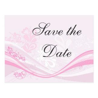 economias moderno-cor-de-rosa-florais a data cartão postal